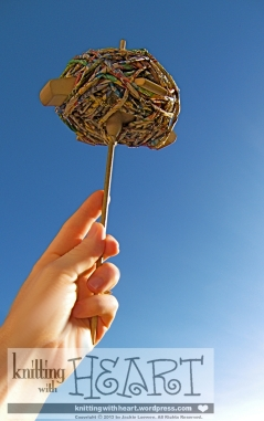 toast-spindle to the clear blue summer sky