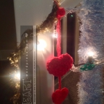 hearty knit Christmas decor glow